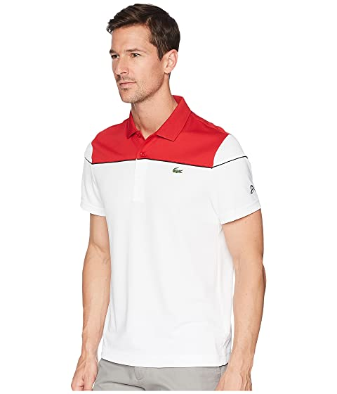 Pique Piping Sleeve Short amp; Ultra Yoke Contrast Lacoste w Block Color Dry faBqn
