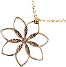 """product image for Flower Power! Peace Bronze Pendant Necklace on 18"""" Rolo Chain"""