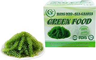 Salted Sea Grapes GREEN FOOD - Dehydrated seaweed - Organic - Umibudo - Green caviar - Caulerpa lentillifera (7.055 OZ /200g)