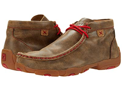 Twisted X Chukka Driving Moc (Little Kid/Big Kid) (Bomber/Red) Shoes
