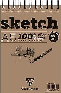 Clairefontaine 96606C Skizzenblock Sketch (100 Blatt, DIN A5