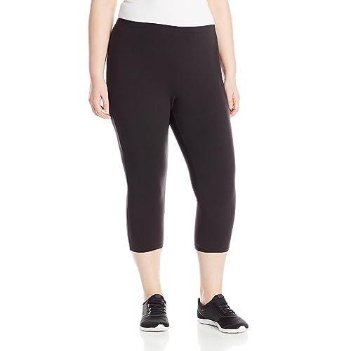8120f799354a8 Just My Size Women's Plus-Size Stretch Jersey Capri Legging