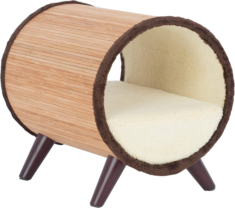 Paws & Purrs Tubular Small Pet Bed, Bamboo Vanilla