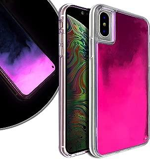 VenSen Liquid Fluorescent Case for Apple iPhone XR 6.1 INCH Soft TPU Luxury Glow in The Darkness Noctiluncen Luminous Neon Sand case iPhoneXR (Purple)