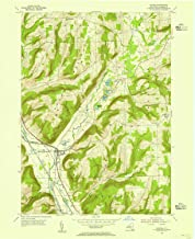 YellowMaps Savona NY topo map, 1:24000 Scale, 7.5 X 7.5 Minute, Historical, 1953, Updated 1955, 27 x 22 in