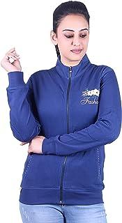 Plush Women's Cotton Zipper Sweatshirts/Sweatshirt (20004)