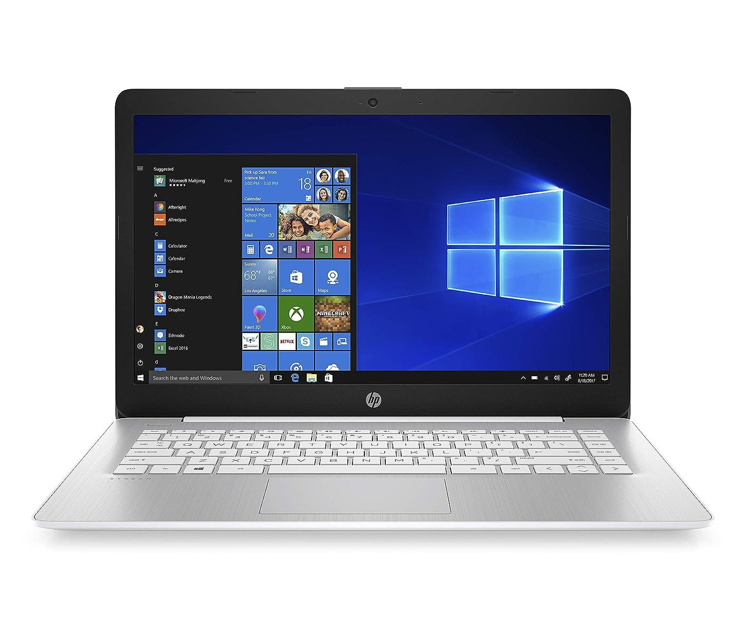 HP Stream 14-inch Laptop, AMD Dual-Core A4-9120E, 4GB RAM, 64GB eMMC Storage, Windows 10 S (14-ds0070nr, Blue)