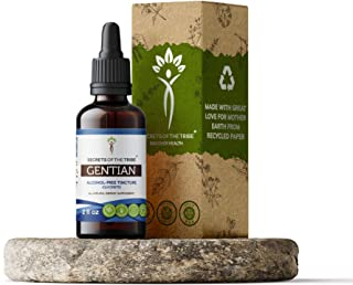 Gentian Alcohol-Free Liquid Extract, Responsibly farmed Organic Gentian (Gentiana Lutea) Dried Root Tincture Supplement (2...