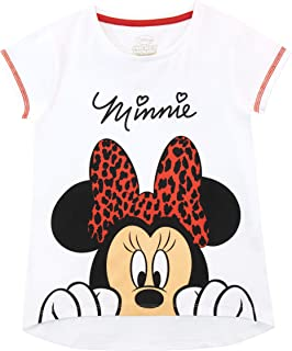 Disney Girls Minnie Mouse T-Shirt White Size 5