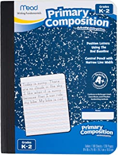 Mead Composition Book, 6 Pack,100 Wide-Ruled Sheets, 9.75 x 7.5 Inch Page Size, (72900)