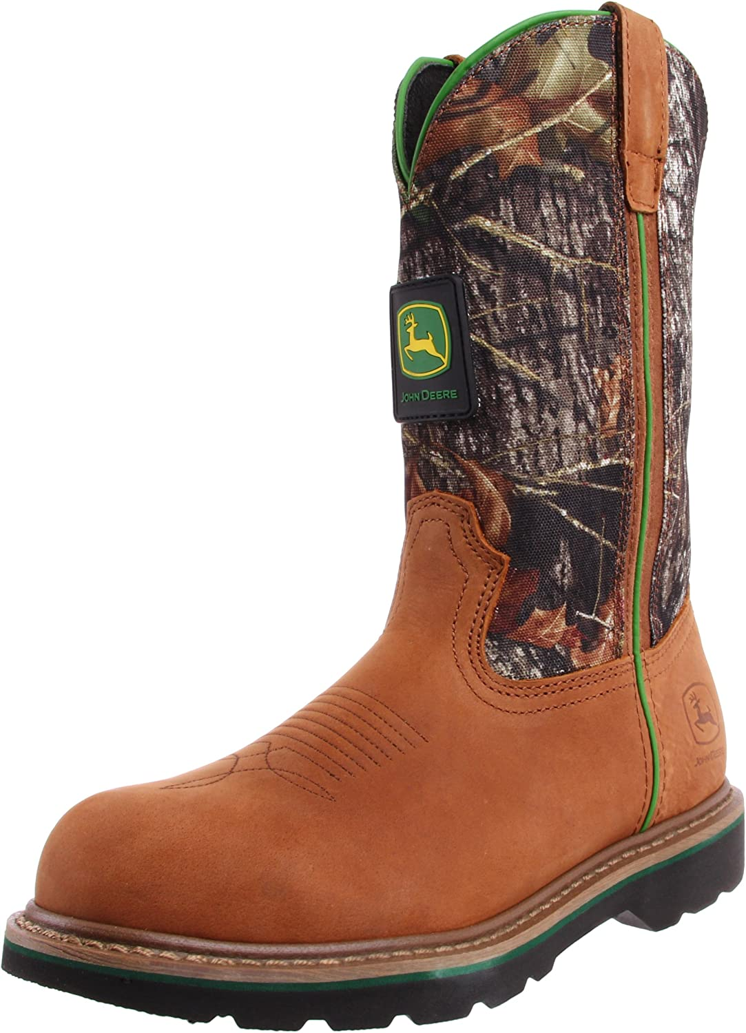 John Deere Men's 11 Inch Mossy Oak Camo Steel Toe Boot
