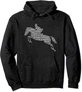 Horse Jumping Word Cloud Hoodie For Horse Lovers