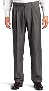Haggar Men's Cool 18 Hidden Expandable-Waist Pleat-Front...