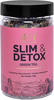 HEALTHY & HYGIENE | 100% Whole Leaf | Slim & Detox Green Tea (55 Gram)