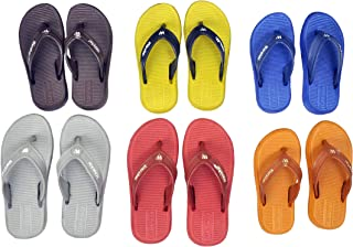Combo Pack of 6 Kids Boys Slippers Casual Outdoor Thong Slipper Flip Flops