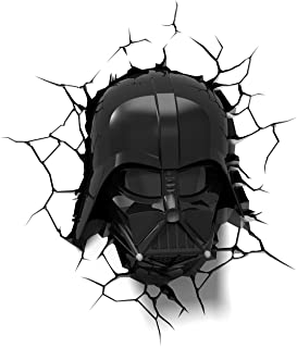 3D Light FX Lampada Led 3Dlightfx-Star Wars Ep7 Darth Vader Face con Timer Lámpara 3D SW, Multicolor, 27 x 14.5 x 32 cm
