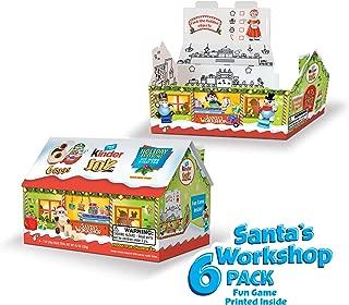 Kinder JOY Eggs, Santa's Workshop 6-Pack Eggs and Toys, 4.2 oz