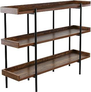 OneSpace Modern Wood and Steel 3-Shelf Display, Cherry