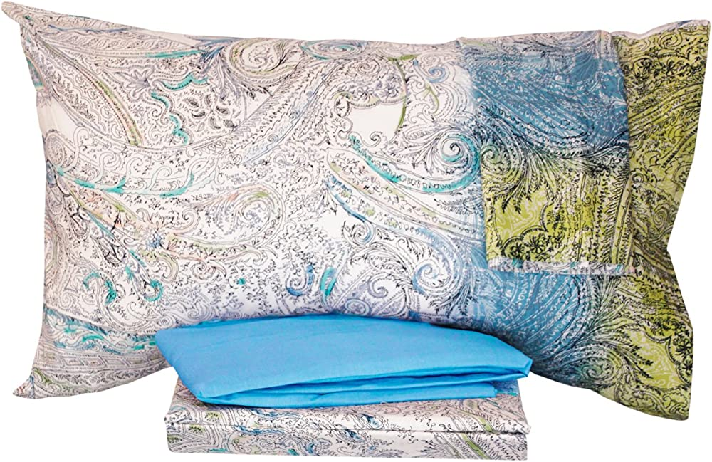 Bassetti,completo lenzuola per letto matrimoniale ,sotto piu` sopra piu` 2 federe ,100 % cotone