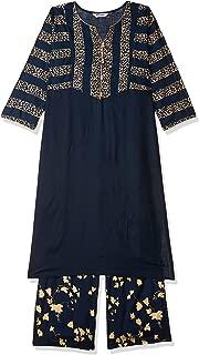 Jaipur Kurti Women's Straight Salwar Suit Set