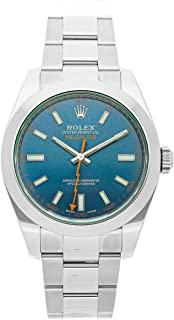 Rolex Milgauss Mechanical (Automatic) Blue Dial Mens Watch 116400GV (Certified Pre-Owned)