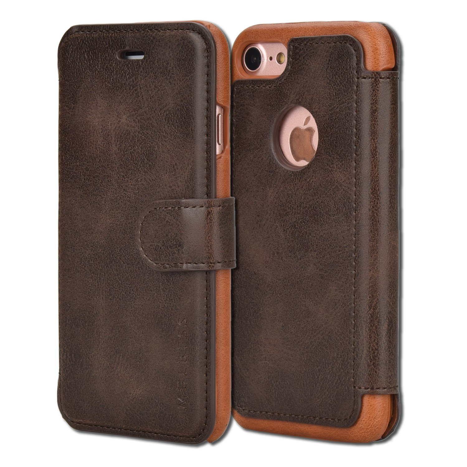 iPhone Mulbess Leather Wallet Coffee