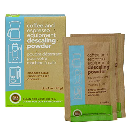Full Circle 19-FCEDP-2PK Espresso Machine 2 Single Use Packets-Descaling Powder