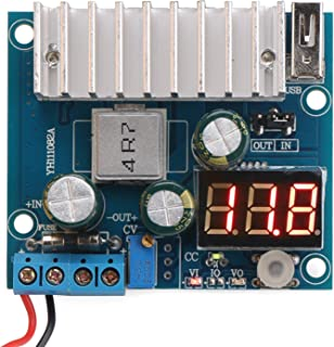 DROK LTC1781 100W DC-DC Step Up Converter, 3-32V 3V 5V 12V to 3-35V 5 V 24V Voltage Boost Regulator Board 6A Switching Power Supply Module with LED Voltmeter USB Interface