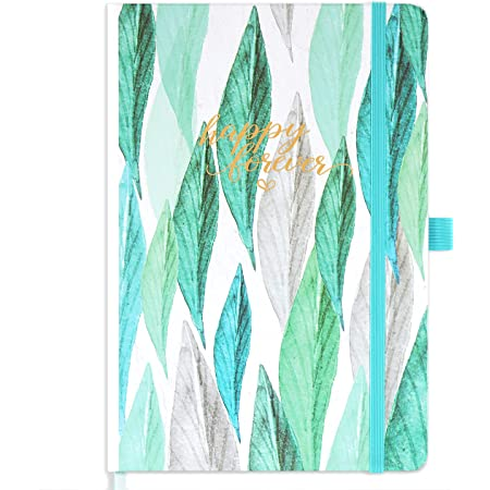 Amazon Brand - Eono Diary 2022 Week to View, A5 12 Month Planner with Green Hardcover, Pen Loop and Back Pocket, 21.3 x 14.7 x 1.6 cm