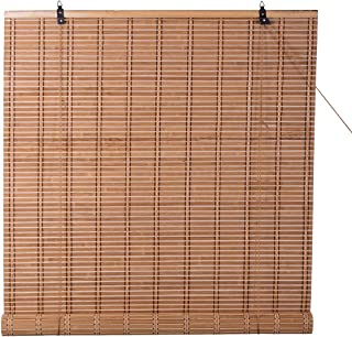 TJ Global Bamboo Roll Up Window Blind Sun Shade, Light Filtering Roller Shades (30