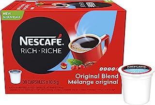 NESCAFÉ Rich Original Roast & Ground Coffee Capsules, K-Cup Compatible Pods, 30 Capsules