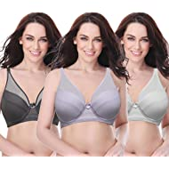 78ba4b5650ef6 Curve Muse Women s Plus Size Minimizer Unlined Underwire Full Coverage Bra