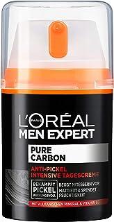 """L""""Oréal Men Expert Gesichtspflege für Männer, Anti-Pickel Feuchtigkeitscreme mit Vitamin B3 und vulkanischem Mineral, Pure Carbon, 1 x 50 ml"""