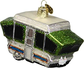 Old World Christmas Glass Blown Ornament Tent Camper (46068)