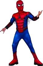 Rubie's 630731 Marvel - Disfraz de Spiderman Premium con músculos Unisex Niños, L (8-10 años)