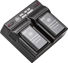 BM Premium 2 Pack of EN-EL23 Batteries and Dual Battery Charger for Nikon Coolpix B700, P900, P600, P610, S810c Digital Camera