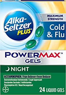 Alka-seltzer Plus Maximum Strength Cold & Flu Power Max Gels Night, 24 Count