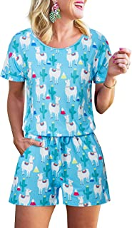 RAISEVERN Prime Mens Day 3D Pattern Printed Personalized Short Sleeve Summer Jumpsuit Rompers Playsuit Bro One Piece Slim Fit