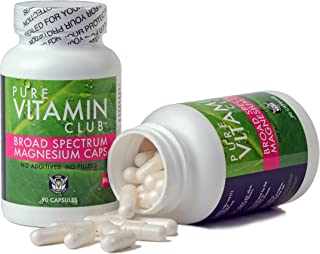 Magnesium 200 Mg Caps - Broad Spectrum. 90 Day Supply. Unique Blend of 4 Magnesium Forms. No Fillers, No Binders, No Added Ingredients. Pure Vitamin Club Daily Magnesium Caps + Free eBook!