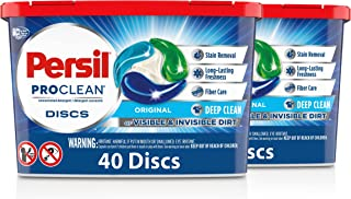 Persil Discs Laundry Detergent Pacs, Original, 40 Count, Pack of 2, 80 Total Loads