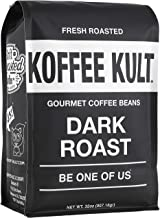 Koffee Kult Coffee Beans Dark Roasted - Highest Quality Delicious Organically Sourced Fair Trade - Whole Bean Coffee - Fre...