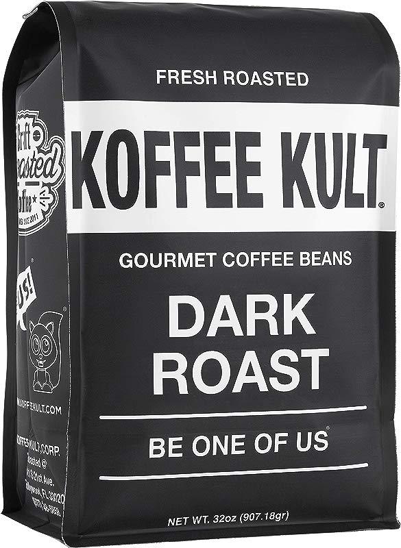 Koffee Kult Dark Roast Coffee Beans Highest Quality Gourmet Whole Bean Coffee Fresh Roasted Coffee Beans 32oz