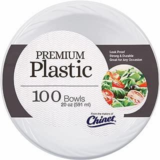 Chinet Plastic Bowls, 20 oz., 100 ct. - White