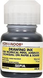 Koh-I-Noor Dye-Based Drawing Ink, 1 Ounce Bottle, Sepia (9065D.SEP)