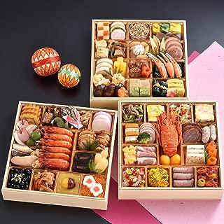 京都 しょうざん 和洋おせち料理 2020 華宴 特大8.5寸 三段重 74品 盛り付け済み 和風&洋風 冷凍おせち 4人前~5人前 お届け日:12月30日