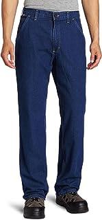 Carhartt Men's Big & Tall Flame Resistant Signature Denim Dungaree Jean