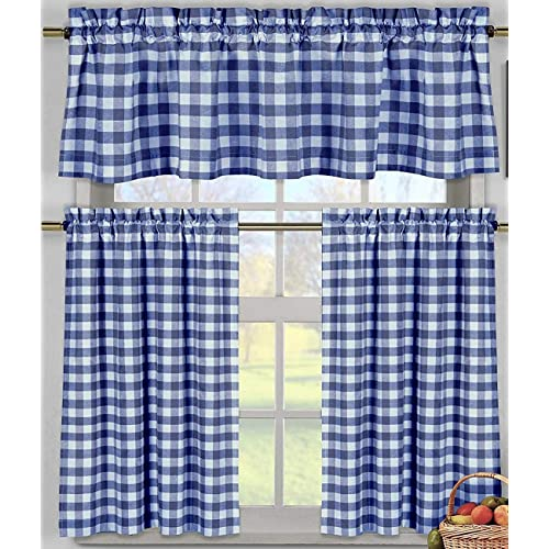 Royal Blue Kitchen Design: Country Blue Kitchen Curtains: Amazon.com