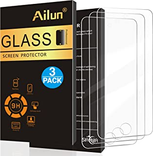 Ailun Screen Protector for iPod Touch 7 Touch 6 Touch 5,[3Pack],Curved Edge Tempered Glass Compatible with iPod Touch 7G 2019 Released/6G 2015 Released/5G(7th/6th/5th Generation),Case Friendly