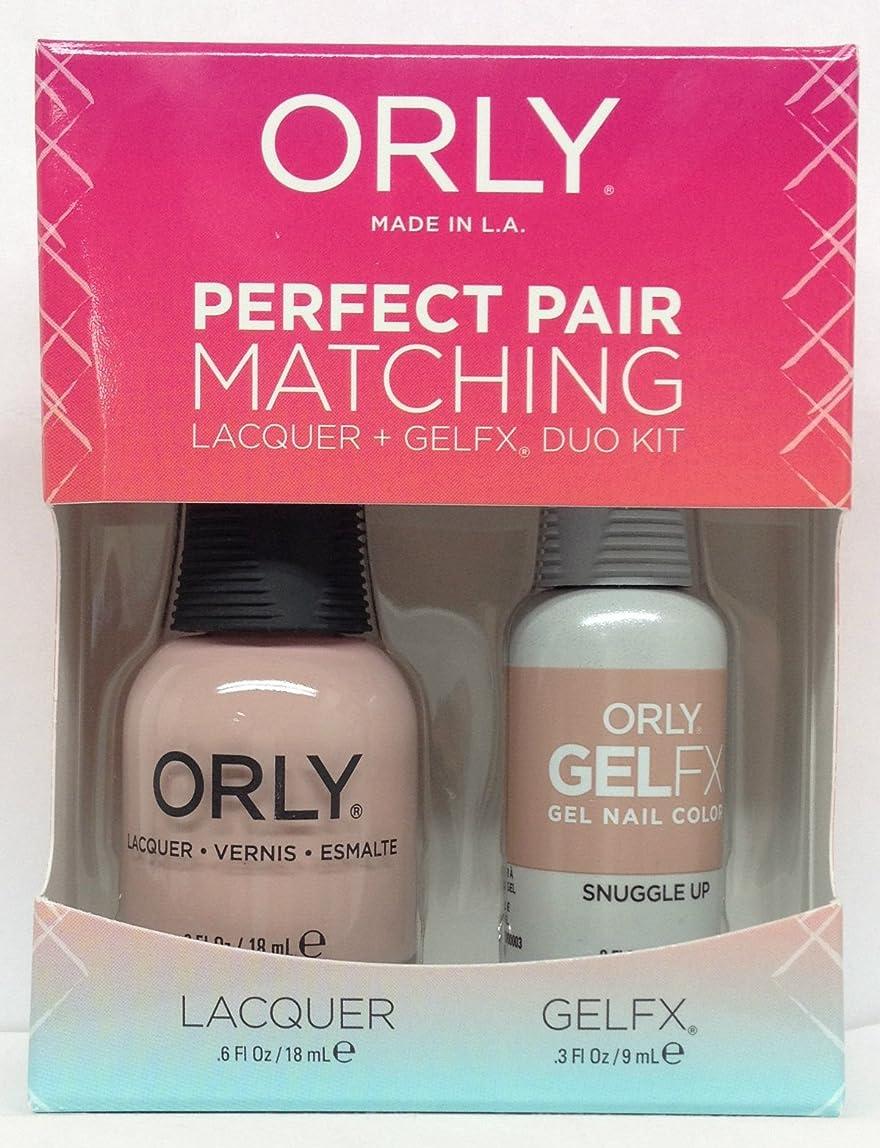 賞賛ビリー侮辱Orly - Perfect Pair Matching Lacquer + GelFX Kit - Snuggle Up - 0.6 oz / 0.3 oz