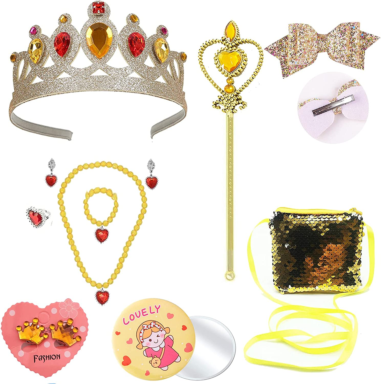 Kids Jewelry Max 59% OFF for Girls 14 Pcs - Crown Fashion Princess Toys Brac